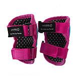 Защита детская для роликов и велосипеда Наколенники и налокотники Перчатки HYPRO (HP-SP-B004) Розовый S, фото 5