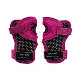 Защита детская для роликов и велосипеда Наколенники и налокотники Перчатки HYPRO (HP-SP-B004) Розовый S, фото 8