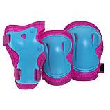 Защита детская для роликов и велосипеда Наколенники и налокотники Перчатки HYPRO (HP-SP-B004) Розовый S, фото 9