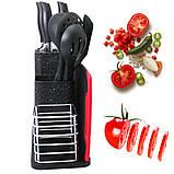 Набір кухонного приладдя та ножів з підставкою 14 предметів Zepline ZP 045, фото 6