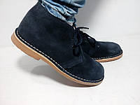 Брендовые испанские замшевые утепленные ботинки, дезерты, еврозима