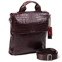 Мужская кожаная сумка большая Eminsa 6019-4-3 коричневая