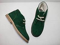Теплые испанские ботинки из натуральной замши, еврозима