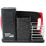 Набір кухонного приладдя та ножів з підставкою 14 предметів Zepline ZP 045, фото 8