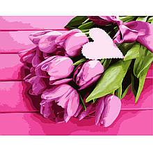Картина по Номерам Розовые тюльпаны 40х50см Strateg
