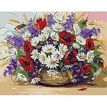 Картина по Номерам Букет полевых цветов 40х50см Strateg
