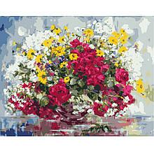Картина по Номерам Красочные полевые цветы 40х50см Strateg