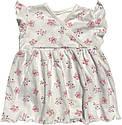 Дитяче літнє плаття на дівчинку ріст 68 3-6 міс для новонароджених малюків з коротким рукавом трикотажне біле, фото 2