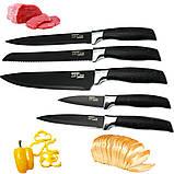 Набір кухонного приладдя та ножів з підставкою 14 предметів Zepline ZP 045, фото 9