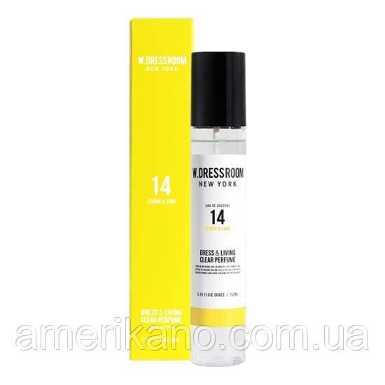 Парфюмированная вода для одежды и дома W.DressRoom Dress & Living Clear Perfume No.14 Lemon & Lime 150 мл