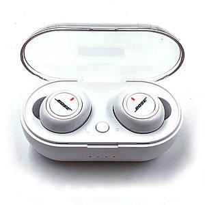 Бездротові bluetooth стерео навушники для телефону блютуз гарнітура BOSE TWS 2 з кейсом