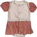 Дитяче літнє плаття на дівчинку зріст 62 2-3 міс для новонароджених з косинкою коротким рукавом батист червоне, фото 2