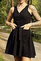Сукня сарафан жіночий чорний Airy. Жіноче плаття-сарафан чорного кольору.