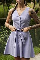 Сукня жіноча сарафан ліловий Airy. Жіноче плаття-сарафан лілового кольору.