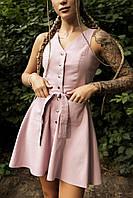 Сукня сарафан жіночий рожевий Airy. Жіноче плаття-сарафан рожевого кольору.