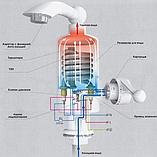 Электрический проточный электро водонагреватель воды 3кВт кран для кухни INSTANT HEATING WATER RX-005 (3417), фото 4