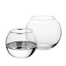 Ваза Pasabahce Flora аквариум 250мл d7 см h7,9 см стекло, Ваза из стекла, Стеклянная ваза для цветов 7,9 см