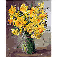 Картина по Номерам Дачный букет желтых нарциссов 40х50см Strateg
