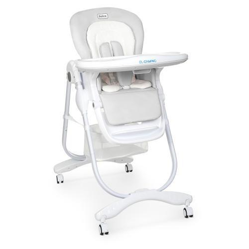 Классический стульчик для кормления со съемной столешницей El Camino DOLCE M 3236 Light Gray, цвет серый