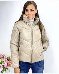 Женская демисезонная куртка из экокожи