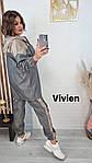 Жіночий костюм: куртка + штани (Батал), фото 2