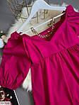 Жіноче коттоновое плаття з рукавом-ліхтариком, фото 3