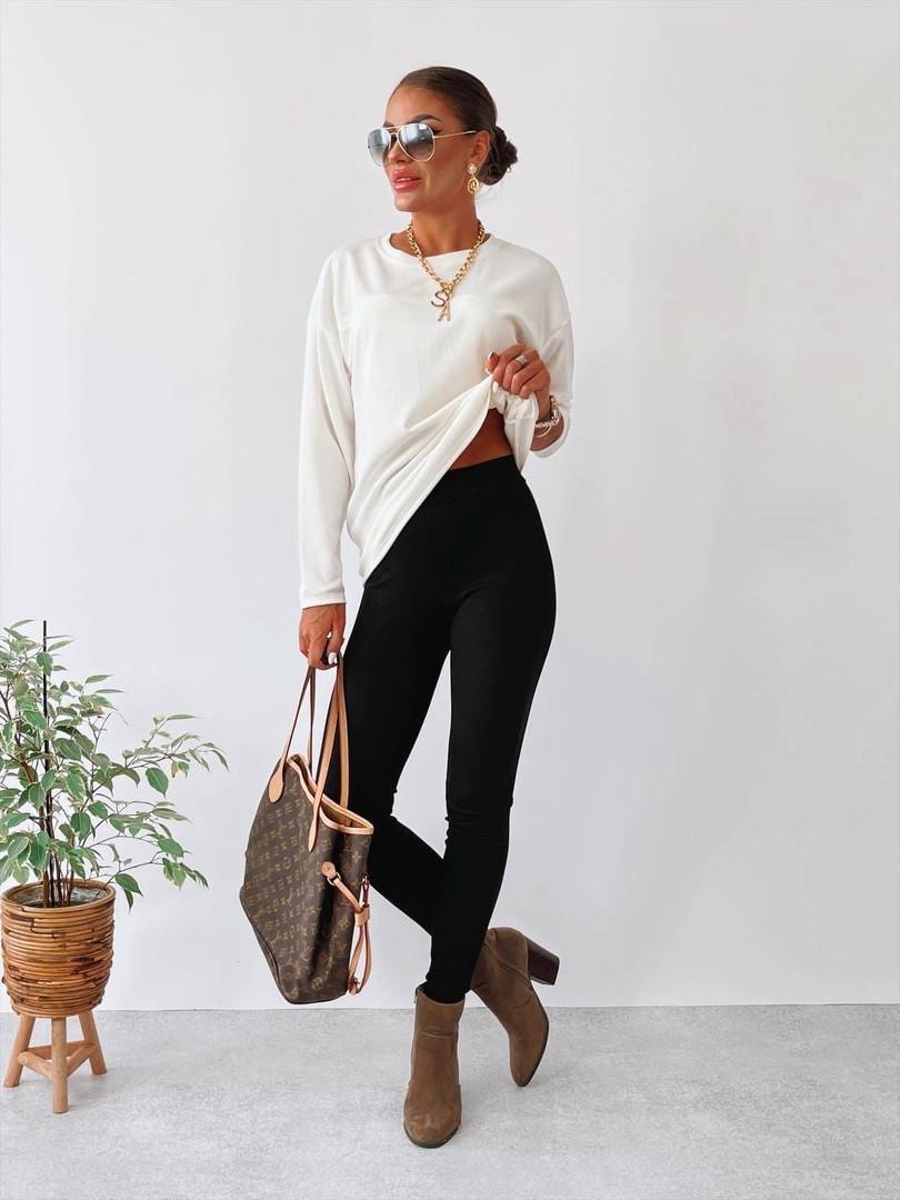 Жіночий костюм двійка: лосини + кофта
