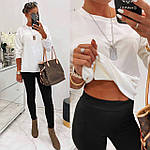 Жіночий костюм двійка: лосини + кофта, фото 6