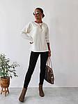 Жіночий костюм двійка: лосини + кофта, фото 7