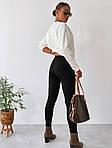 Жіночий костюм двійка: лосини + кофта, фото 8