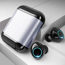 Бездротові bluetooth-навушники Tomkas S7-TWS, сріблястий бокс