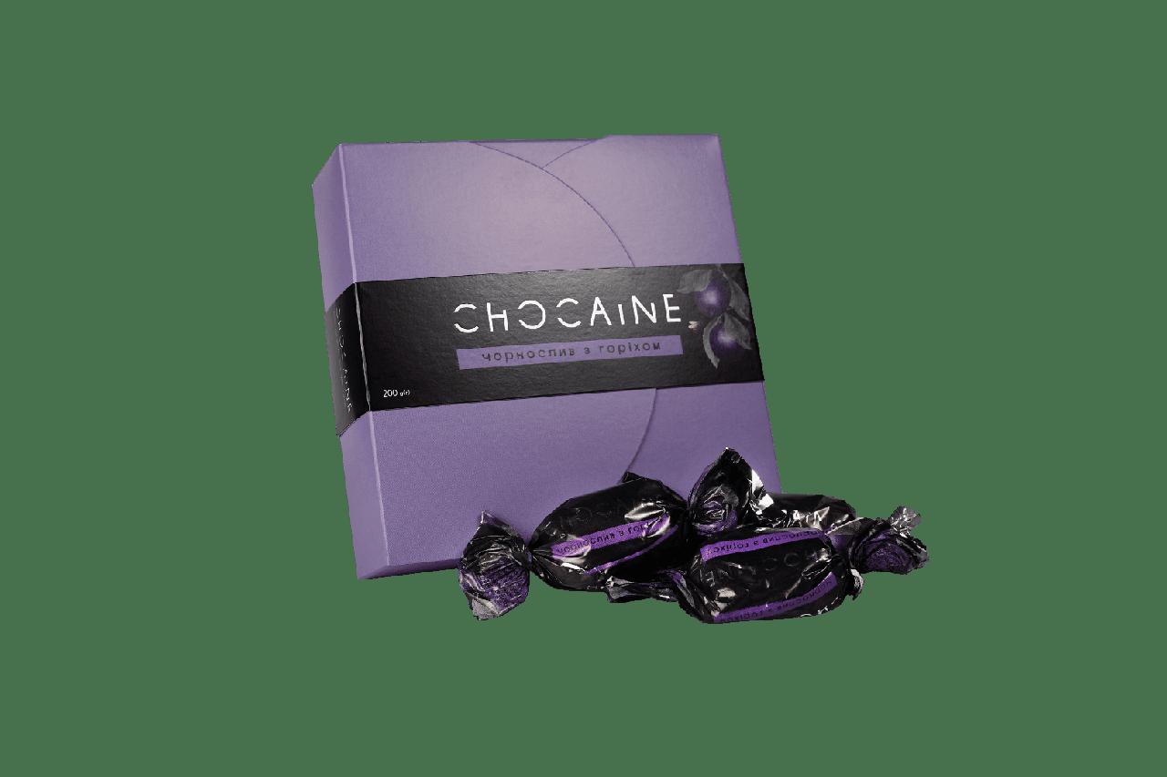 Цукерки CHOCAINE «Чорнослив з горіхом» 200Г