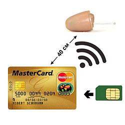 Мікронавушник для іспиту + GSM гарнітура у вигляді кредитної картки Edimaeg NMD-330KIT (готовий комплект)