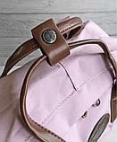 Рюкзак Kanken Fjallraven Classic 16л Розовый ( пудра ) канкен с кожаными ручками школьный, портфель Pink, фото 4