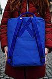 Рюкзак Kanken Fjallraven Classic 16л Синій електрик канкен з синіми ручками шкільний портфель blue, фото 4