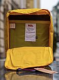 Рюкзак Kanken Fjallraven Classic 16л Жовтий канкен з райдужними ручками шкільний портфель yellow, фото 5