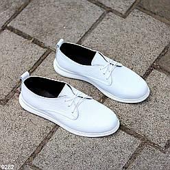 Классические белые кожаные женские туфли из натуральной кожи флотар 36-23,5 37-24 38-24,5 40-26см