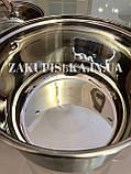 Набор кастрюль из нержавеющей стали German Family GF-2028 Набор кухонной посуды Кастрюли с крышками + ВЕСЫ, фото 4