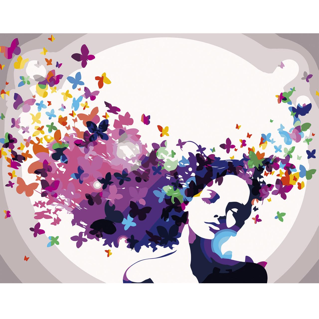 Картина по Номерам Цветочные мысли 40х50см Strateg