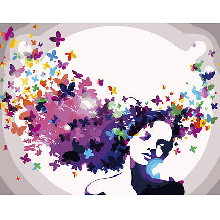 Картина по Номерам Цветочные мысли 40х50см Strateg, фото 2