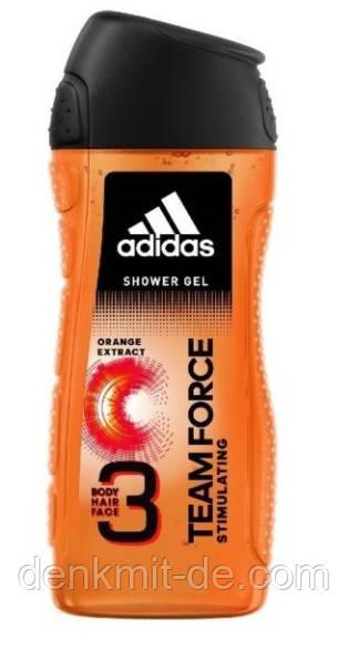 Гель для душа мужской 3 в 1 Adidas Team Force 400 мл