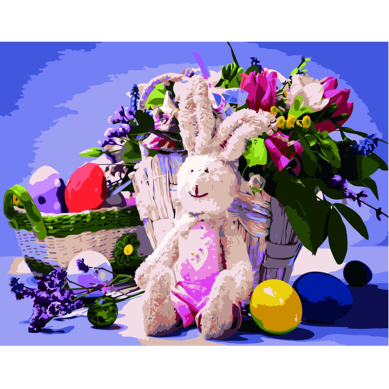 Картина за Номерами Зайченя на Великдень 40х50см Strateg