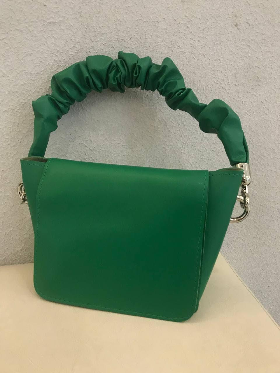 Сумка жіноча зелена маленька з еко-шкіри Modna Kazka MK21-32
