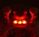 Музичні ходунки з ігровою панеллю зі світловими ефектами «Bambi» M 3656-2, колір синій, фото 2