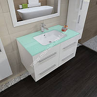 Комплект мебели для ванной комнаты Marsan Gabrielle 90 см белый