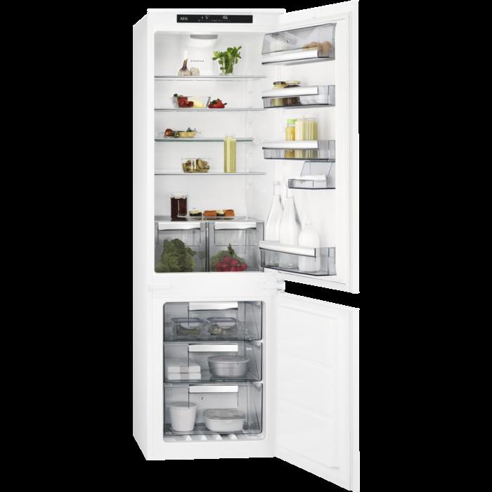 Встроенный  холодильник с морозильной камерой AEG SCE818E6TS