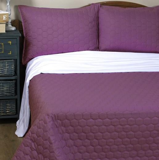 Покрывало Lotus Broadway - Comb фиолетовый 175*220