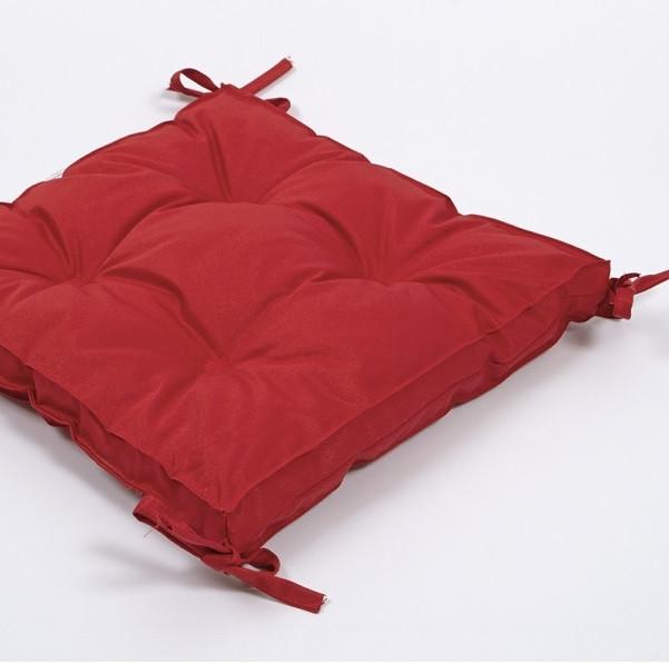 Подушка на стілець Lotus 40*40*5 - Optima з зав'язками червоний