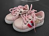 Кроссовки для девочки 26 р стелька 15.5 см, фото 3