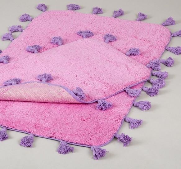 Набір килимків Irya - Joy pembe рожевий 60*90+40*60